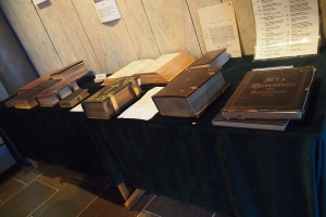 Old bibles in the Gamla Uppsala church