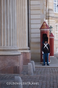 Changing of the guard, looks just like the chocolate soldier.