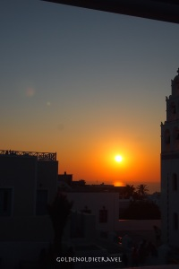 My first Santorini sunset