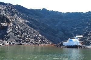 Sulphur springs in the caldera