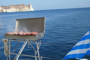 Barbecue on the sunset cruise