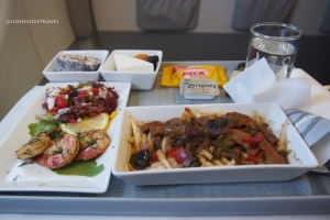 Now that is what I call an inflight lunch!