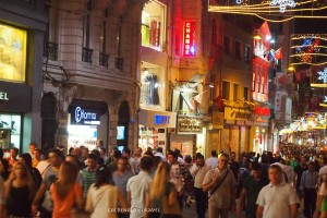 The street was sure crowded that night